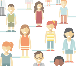 illustrated people representing diversity